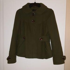 Topshop Forest Green Coat
